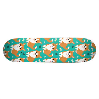 Kawaii Cute Corgi dog simple illustration pattern Skate Deck
