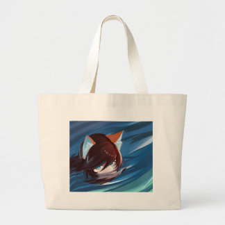 Kawaii Cute Fox Hunting For Prey Large Tote Bag