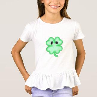 Kawaii cute funny  fun four leaf clover green mint T-Shirt