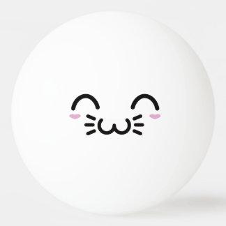 Kawaii Cute Funny Smiley Face. Emoji. Emoticon. Ping-Pong Ball