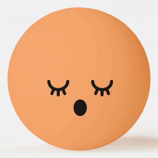 Kawaii Cute Funny Smiley Face. Emoji. Emoticon. Ping Pong Ball
