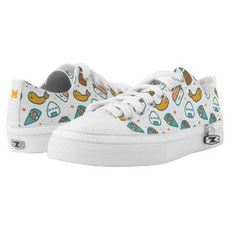 Kawaii Cute Japanese Sushi Pattern. Monogram. Low-Top Sneakers