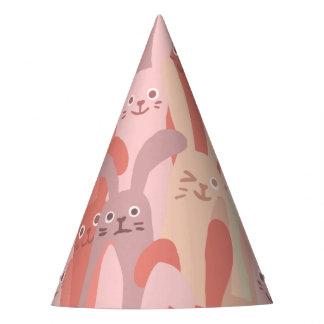 Kawaii Cute Little Bitty Rabbit Bunnies. Party Hat