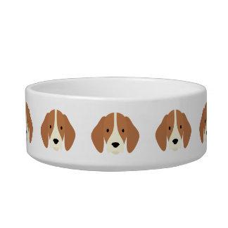 Kawaii Cute Little Puppy Dog. Bowl
