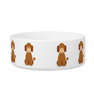 Kawaii Cute Little Puppy Dog. Poodle! Bowl