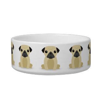 Kawaii Cute Little Puppy Dog. Pugs! Bowl