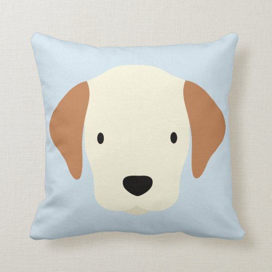 Kawaii Cute Little Puppy Dog. Throw Pillow