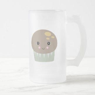 kawaii cute muffin frosted glass mug