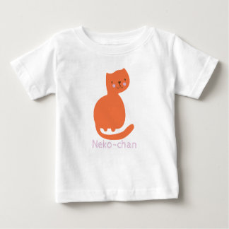 Kawaii Cute Orange Kitty Cat. Add Baby's Name. Baby T-Shirt