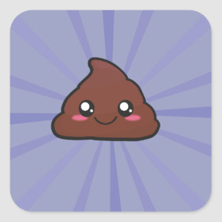 Kawaii cute poop sticker