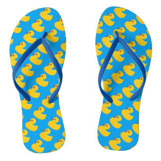 Kawaii Cute Rubber Ducky Flip Flops