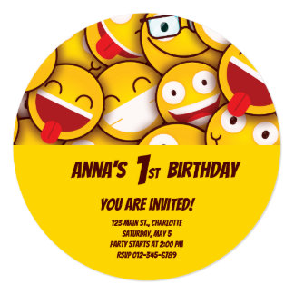 Kawaii Cute Smiley Emoji Emoticon Birthday Card