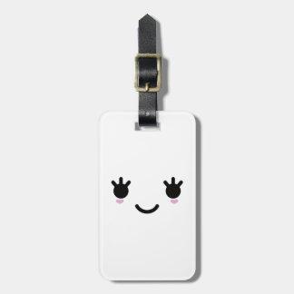 Kawaii Cute Smiley Face Luggage Tag