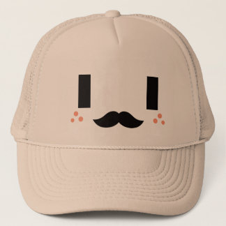 Kawaii Cute Smiling Gentleman. Trucker Hat