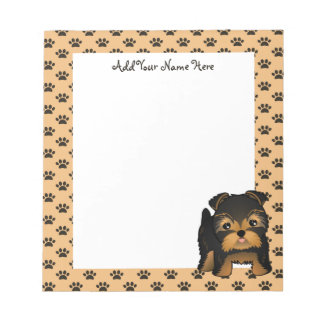 Kawaii Cute Yorkshire Terrier Puppy Dog Notepad