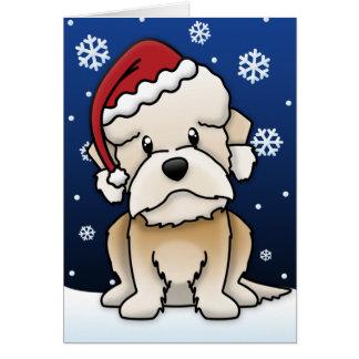 Kawaii Dandie Dinmont Terrier Christmas Card