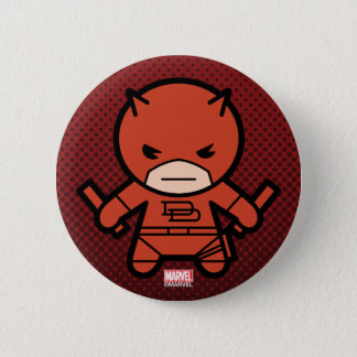 Kawaii Daredevil With Paired Short Sticks 2 Inch Round Button