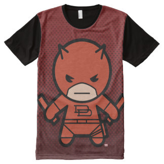 Kawaii Daredevil With Paired Short Sticks All-Over-Print T-Shirt