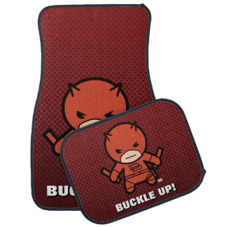 Kawaii Daredevil With Paired Short Sticks Car Mat
