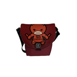 Kawaii Daredevil With Paired Short Sticks Courier Bags