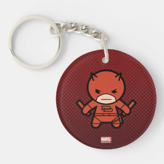 Kawaii Daredevil With Paired Short Sticks Keychain
