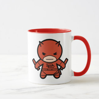 Kawaii Daredevil With Paired Short Sticks Mug