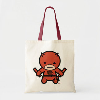Kawaii Daredevil With Paired Short Sticks Tote Bag