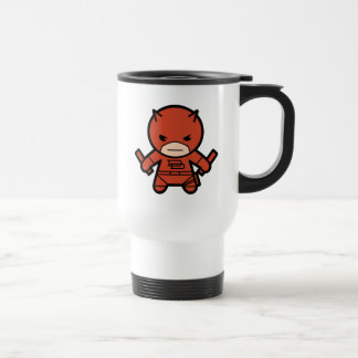 Kawaii Daredevil With Paired Short Sticks Travel Mug