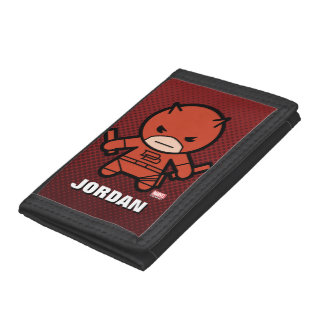Kawaii Daredevil With Paired Short Sticks Trifold Wallets