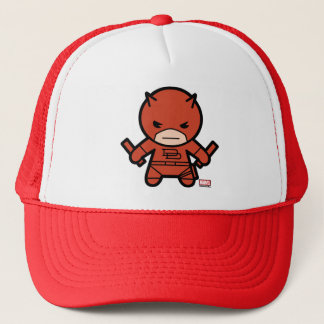 Kawaii Daredevil With Paired Short Sticks Trucker Hat
