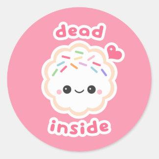Kawaii Dead Inside Cookie Classic Round Sticker