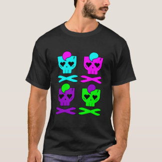 KAWAII DEATHROCK SKULLS MULTICOLOUR T-Shirt