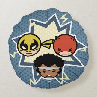 Kawaii Defenders Round Pillow