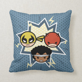 Kawaii Defenders Throw Pillow