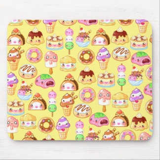 Kawaii Dessert Friends Mousepad