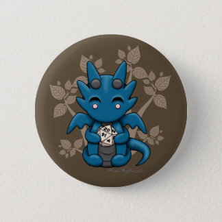 Kawaii Dice Dragon Button Pin