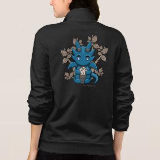 Kawaii Dice Dragon Women's Zipup Jacket Sweatshirt