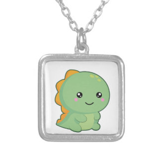 Kawaii Dinosaur Silver Plated Necklace