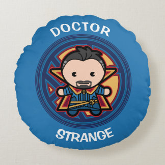 Kawaii Doctor Strange Emblem Round Pillow