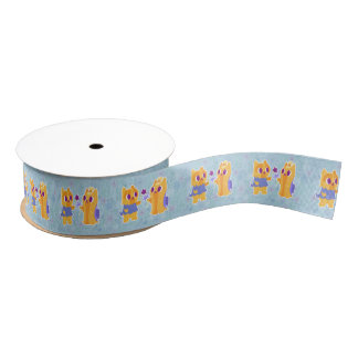 Kawaii Dog Best Friend or Puppy Love Yorkies Grosgrain Ribbon