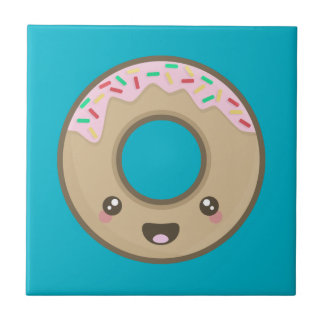 Kawaii donut tile