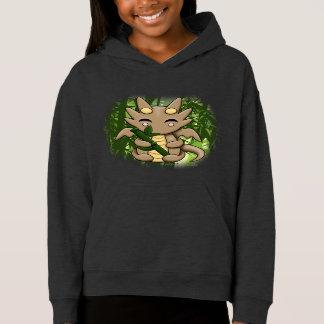 Kawaii Dragon Bamboo Girl's Pullover Hoodie