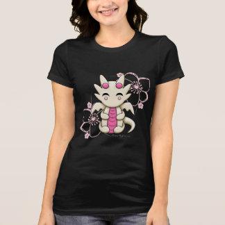 Kawaii Dragon Pink Cherry Blossoms Women's Shirt