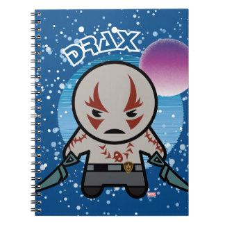 Kawaii Drax In Space Spiral Notebook