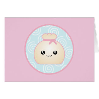 Kawaii Dumpling Birthday Card