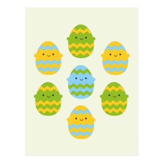 Kawaii Easter Eggs Postcard