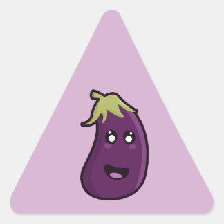 Kawaii eggplant triangle sticker