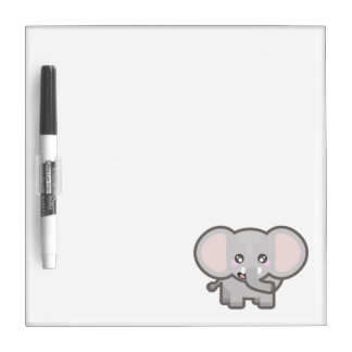 Kawaii elephant dry erase board