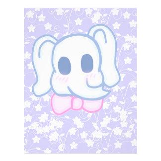 Kawaii Elephant Personalized Letterhead