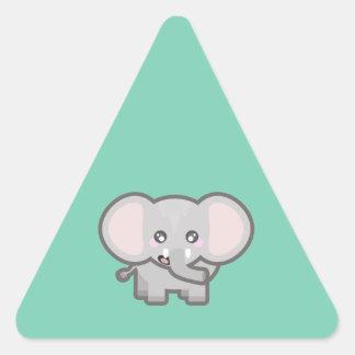 Kawaii elephant triangle sticker